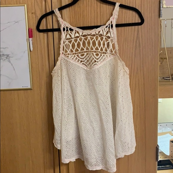 Free People Tops - Free People Lace Tank Top